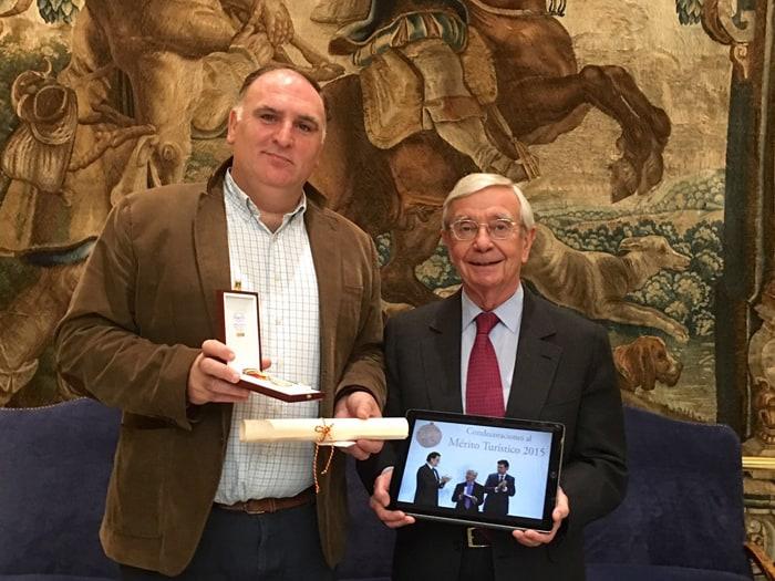 José Andrés, Medalla al Mérito Turístico a la Internacionalización
