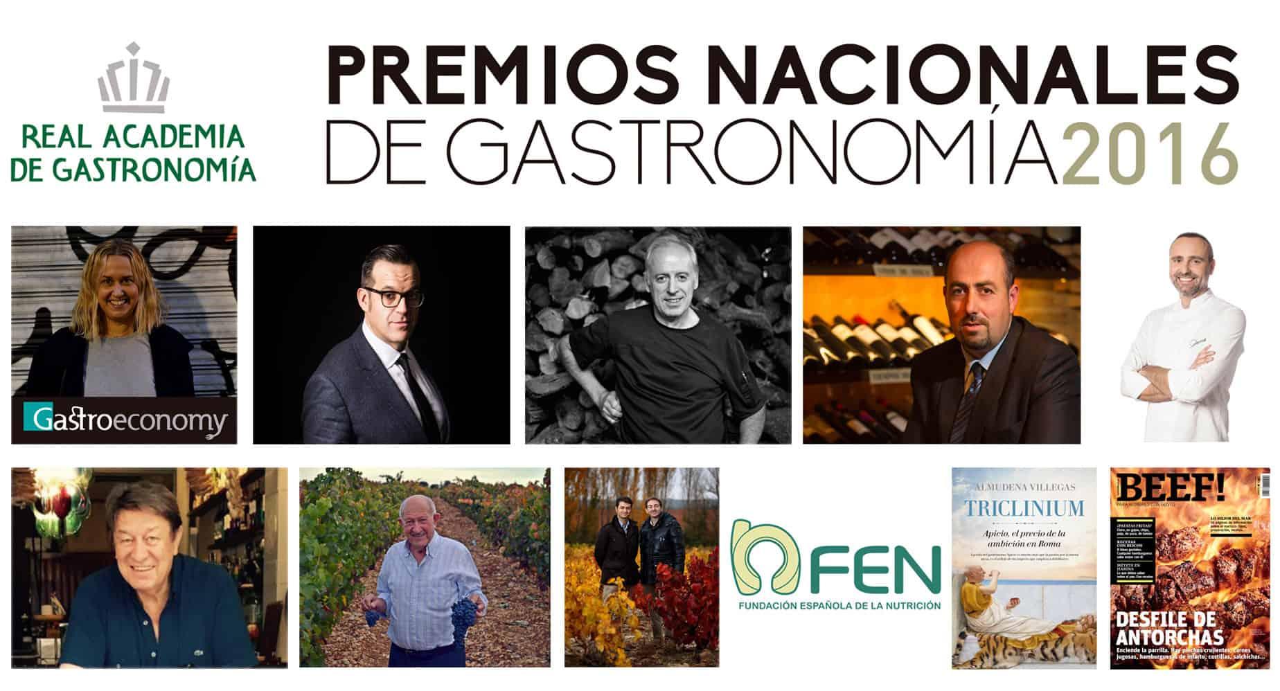 Ganadores Premios Nacionales de Gastronomía 2016