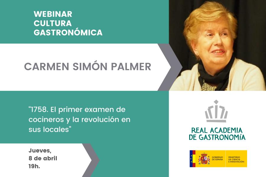 Webinar 8 abril: Historia gastronómica con Carmen Simón